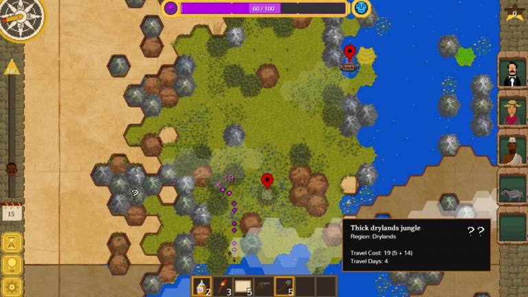 Screenshot aus The Curious Expedition