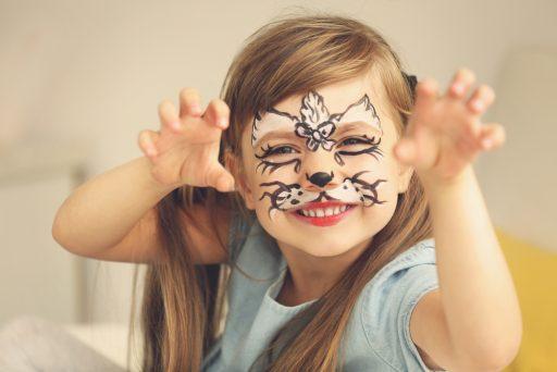 Kinderschminken Mädchen geschminkt