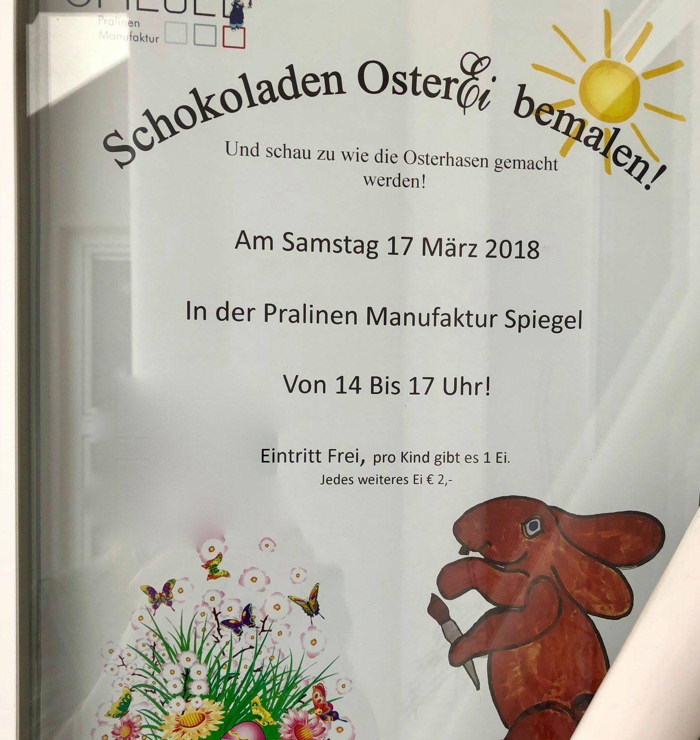 Ostereier bemalen in der pralinen manufaktur hello familiii - Spiegel bad tatzmannsdorf ...
