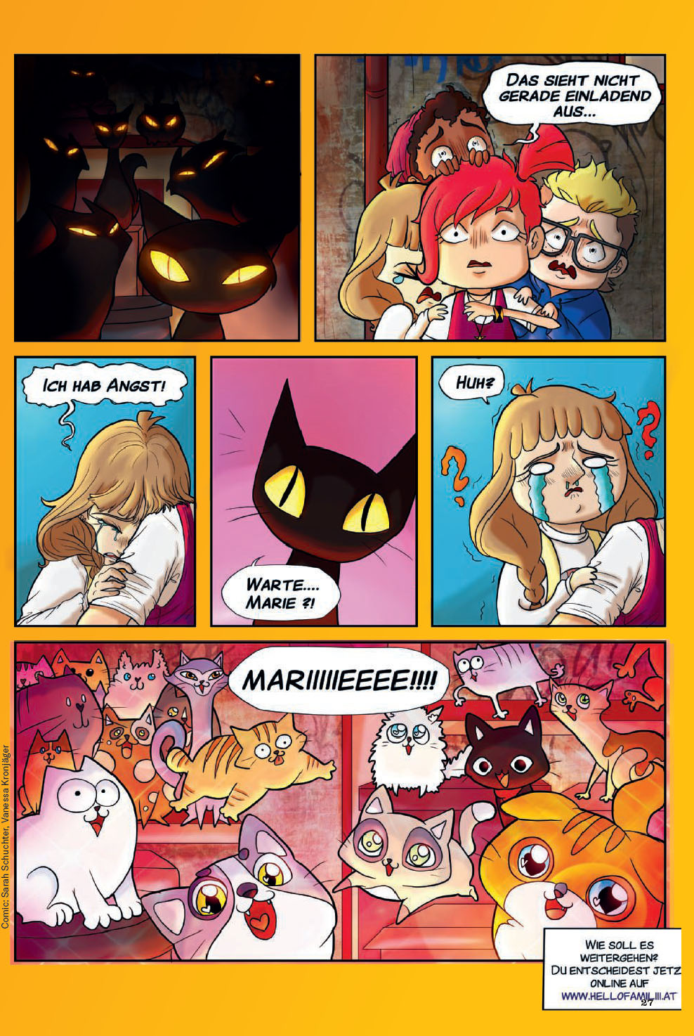 Katzen Comic April