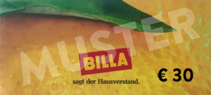 €30,- BILLA