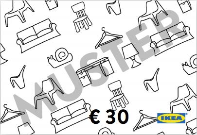 30€ Ikea Gutschein