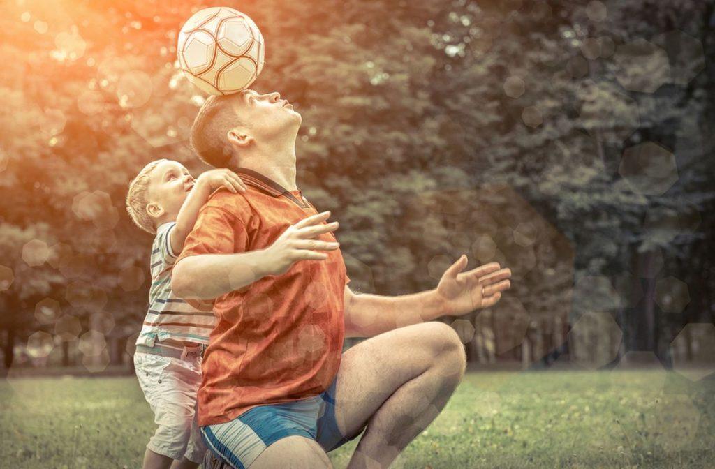 fußball spielen kind