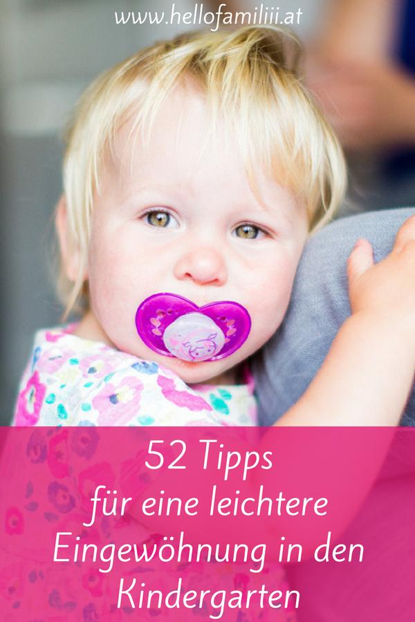 52 Tipps Eingewöhnung Kindergarten