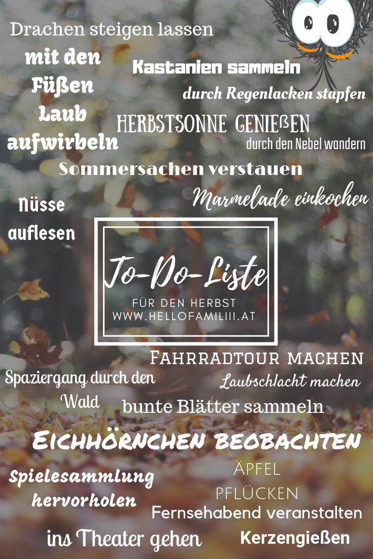 To-Do-Liste für den Herbst