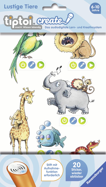 tiptoi create Sticker Lustige Tiere