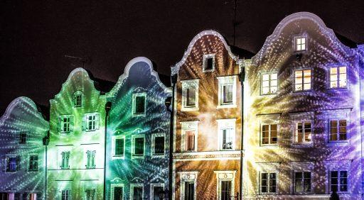 Lichtshow Advent Schärding