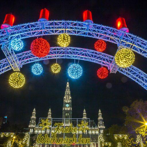 Wiener Weihnachtstraum-Begrüßungsbogen