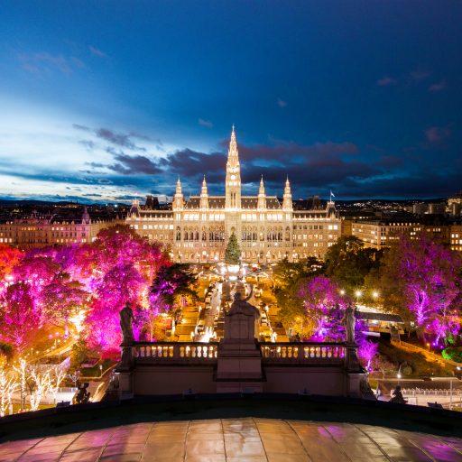 Wiener Weihnachtstraum Blick vom Burgtheater