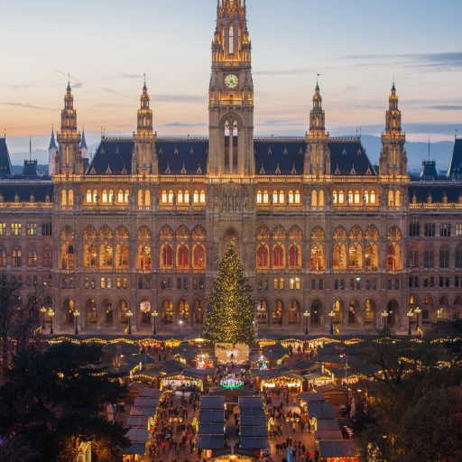 Wiener Weihnachtstraum_Blick vom Burgtheater abends