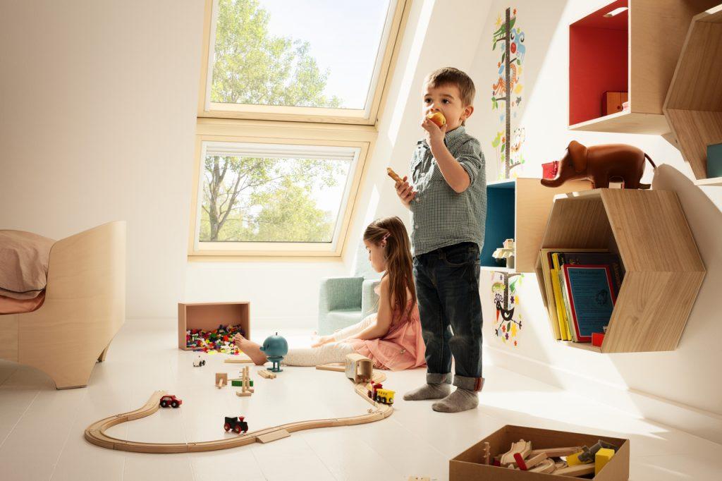 Velux Dachflächenfenster im Kinderzimmer