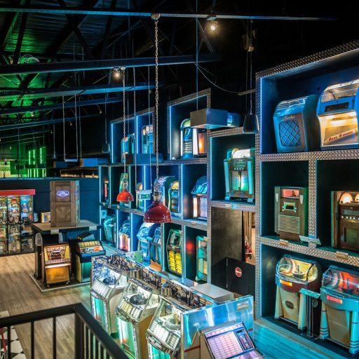 weltweit einziger Setzkasten für Jukeboxen im Sektor 4 des Terratechnica