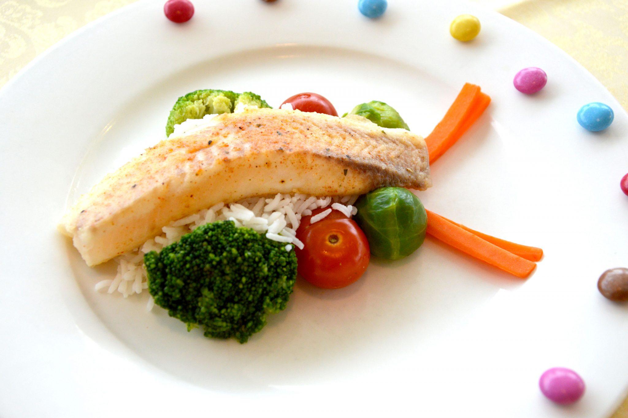 Parktherme bad Radkersburg Buntbarschfilet auf Reis mit saisonalem Gemüse