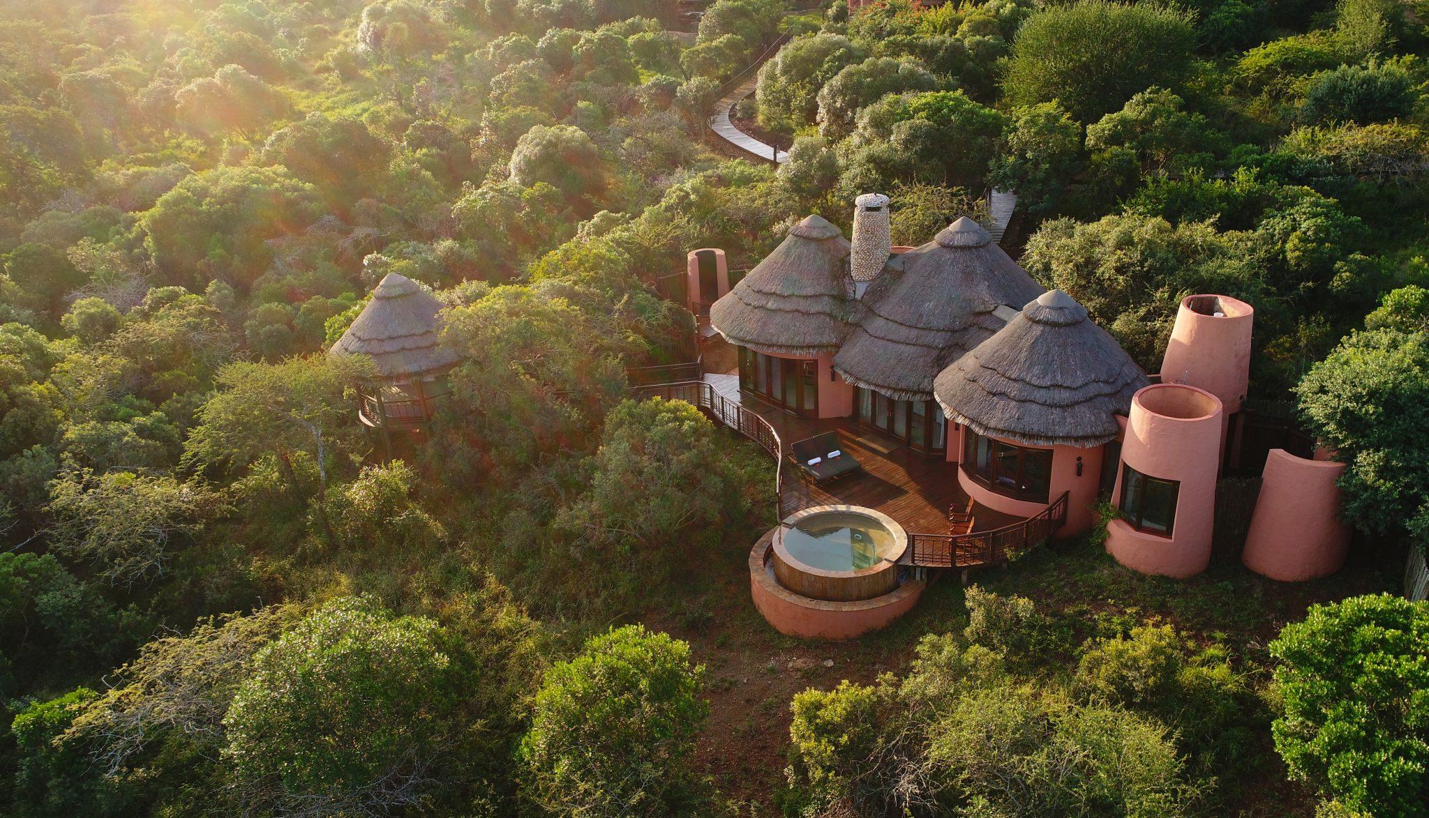 Tanda Safari Reservat von oben