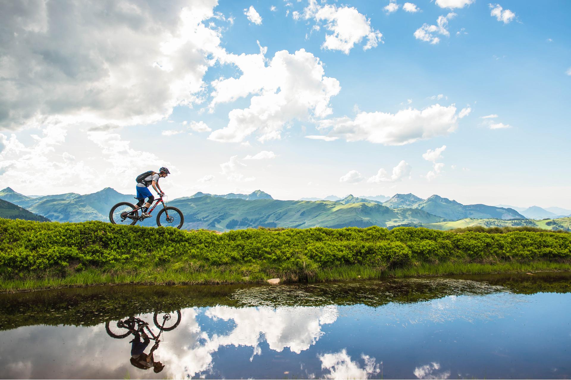 Unterschwarzachhof: Mountainbikung in Saalbach