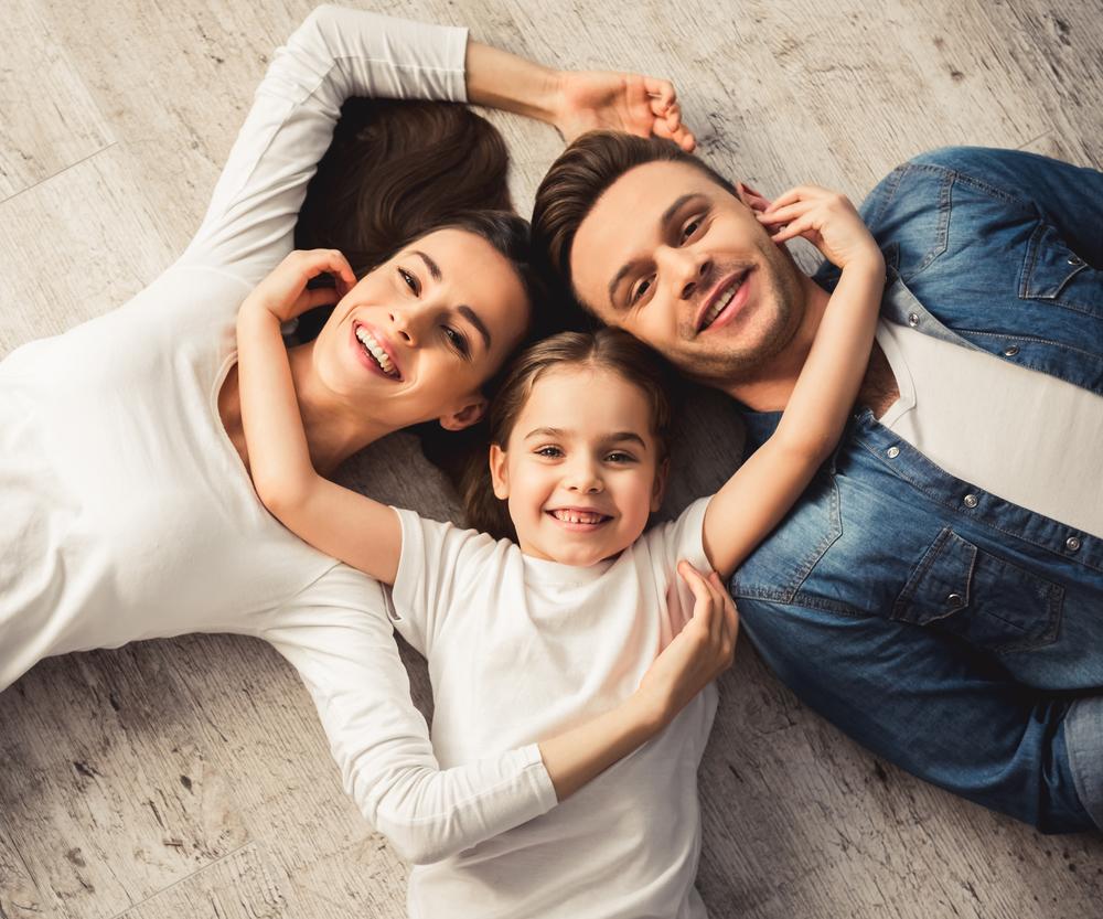Umfrage: Familie mit einem Kind