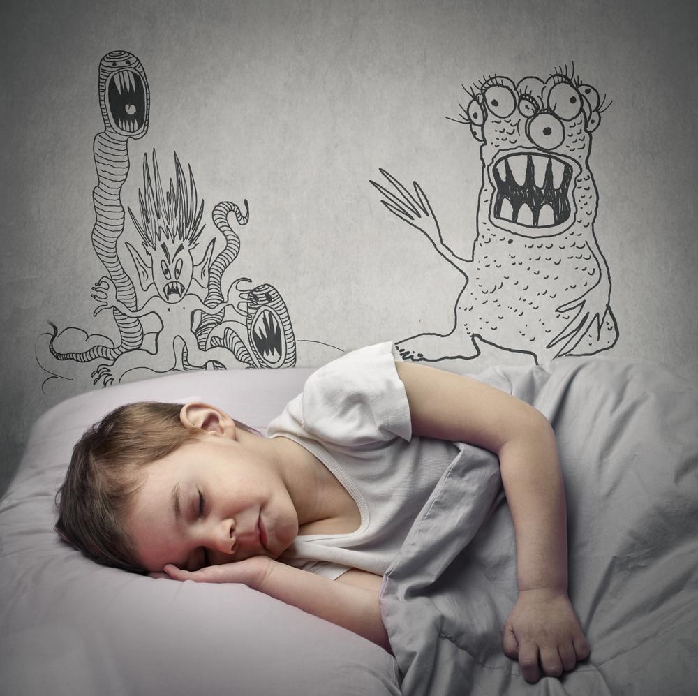 Kind mit Albträumen