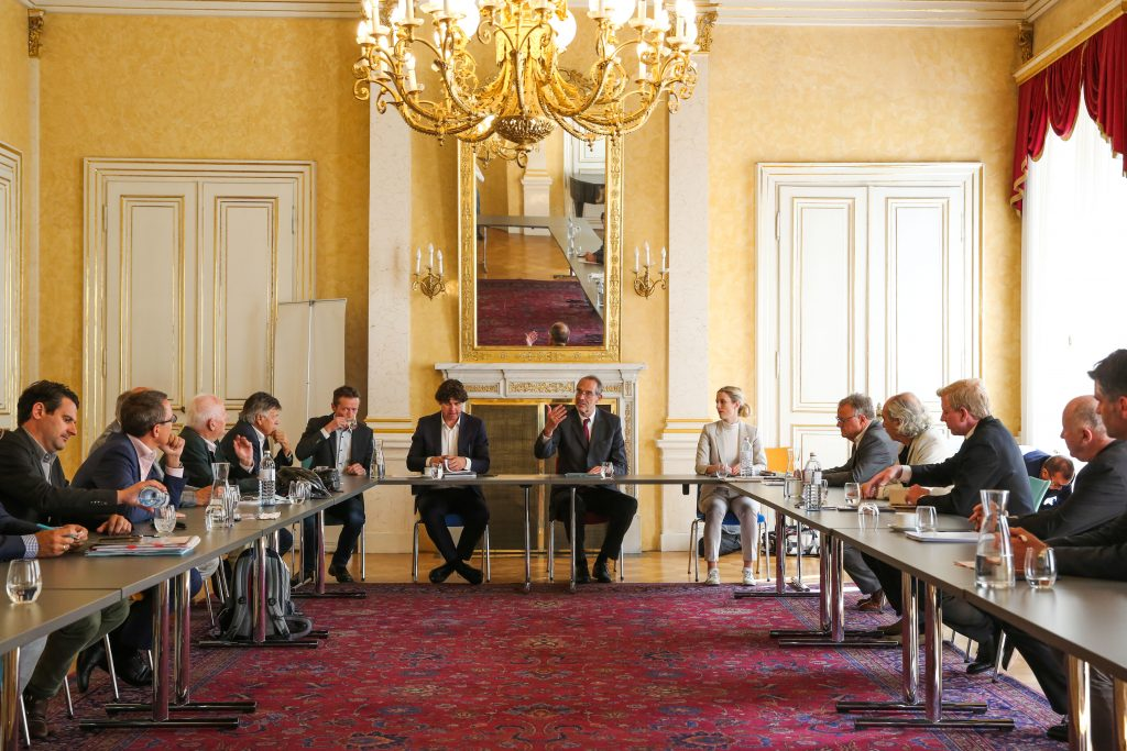 VIENNA,AUSTRIA,03.SEP.20 - OLYMPICS - OEOC, photo shooting. Image shows an overview of the meeting. Photo: GEPA pictures/ Michael Meindl