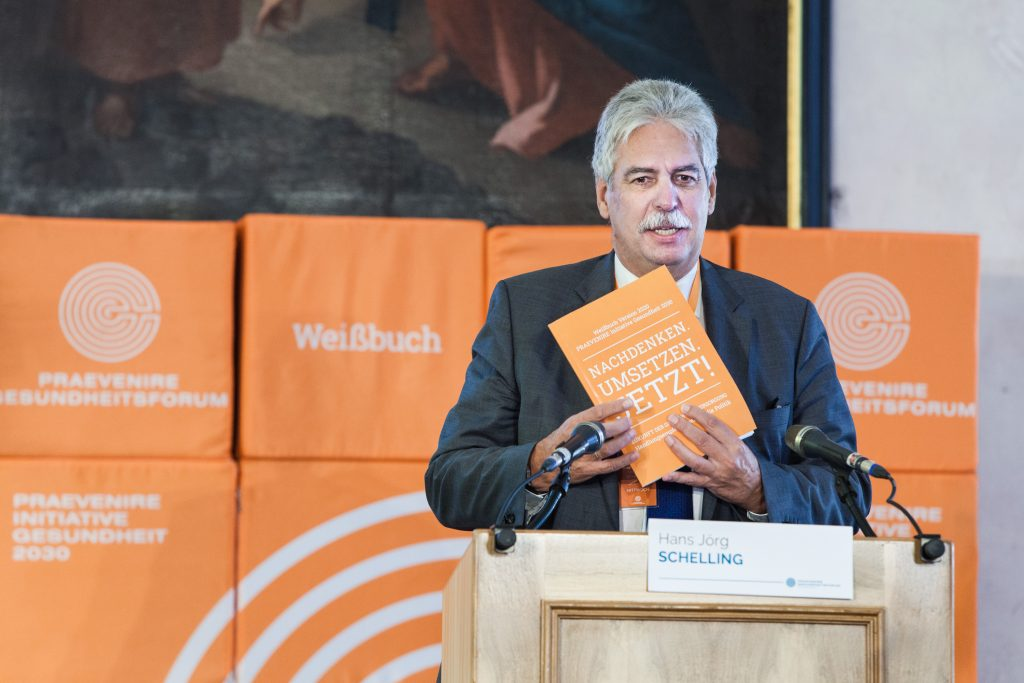 """PRAEVENIRE Präsident Dr. Hans Jörg Schelling präsentiert das Wei§buch """"Zukunft der Gesundheitsversorgung"""" und fordert neue Reha-Konzepte"""
