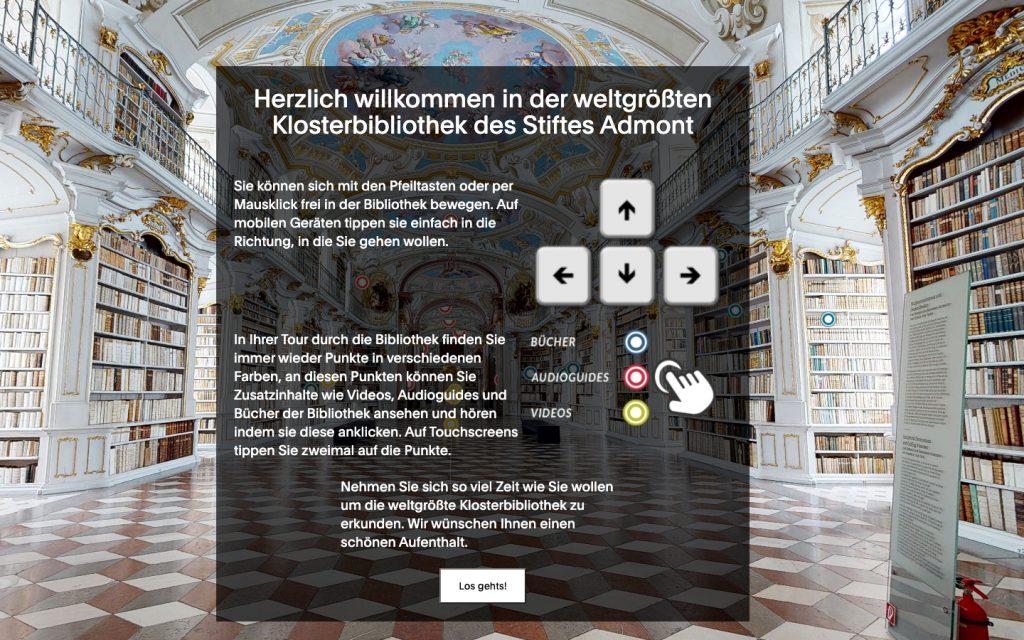 Homepage https://cultour.digital/ Klosterbibliothek Stift Admont