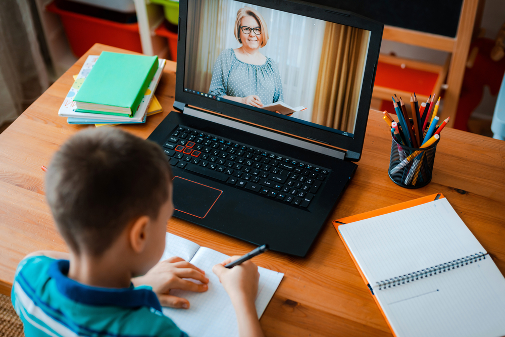Distance,Learning,Online,Education.,A,Schoolboy,Boy,Studies,At,Home