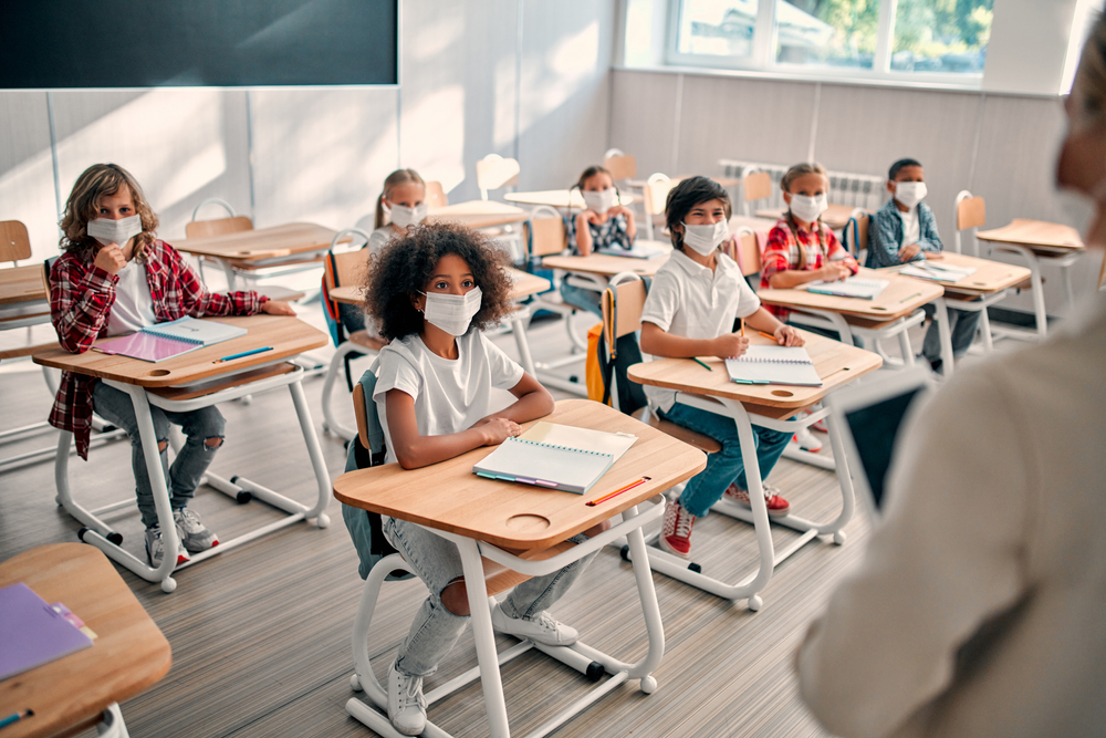 Multiracial,Pupils,Of,Primary,School,Are,Ready,To,Study,After