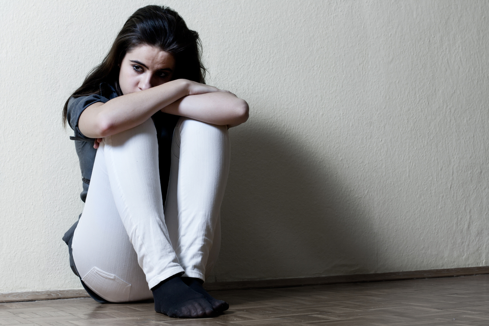 Depressed,Teenage,Girl.