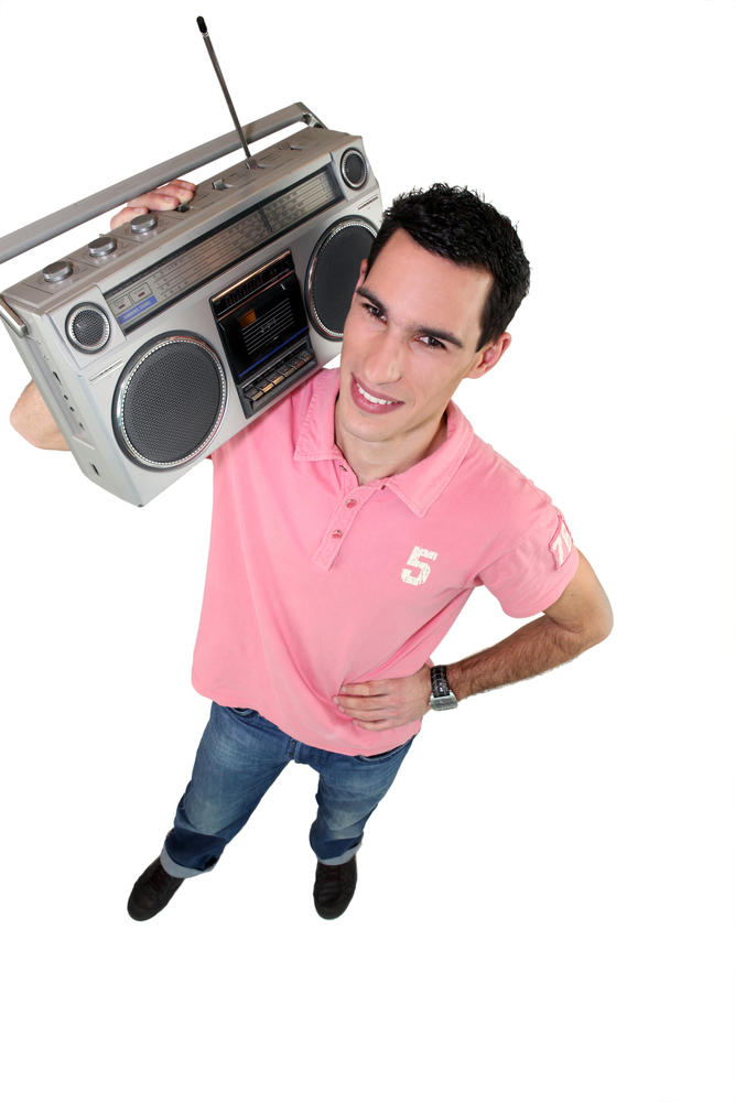 Young,Man,With,A,Ghettoblaster