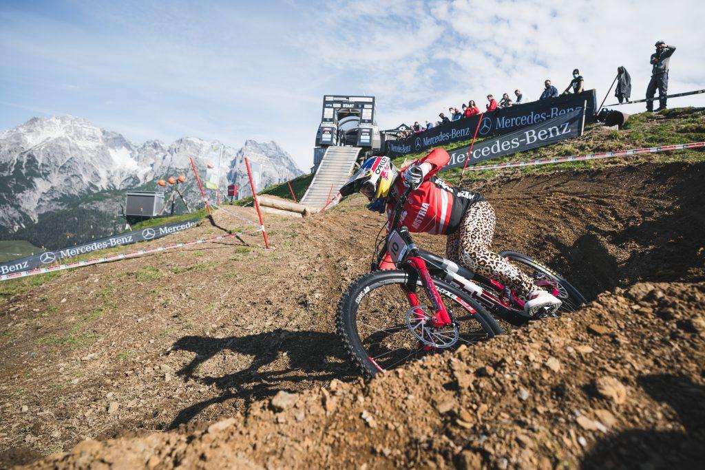 Valentina Höll beim MTB Weltcup Leogang