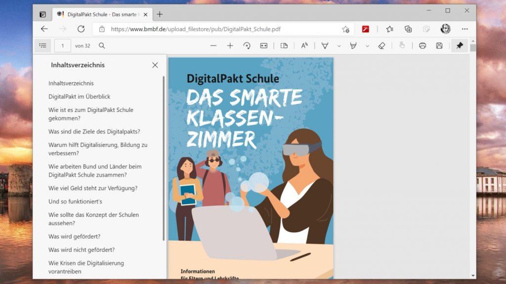 Microsoft Edge Schule