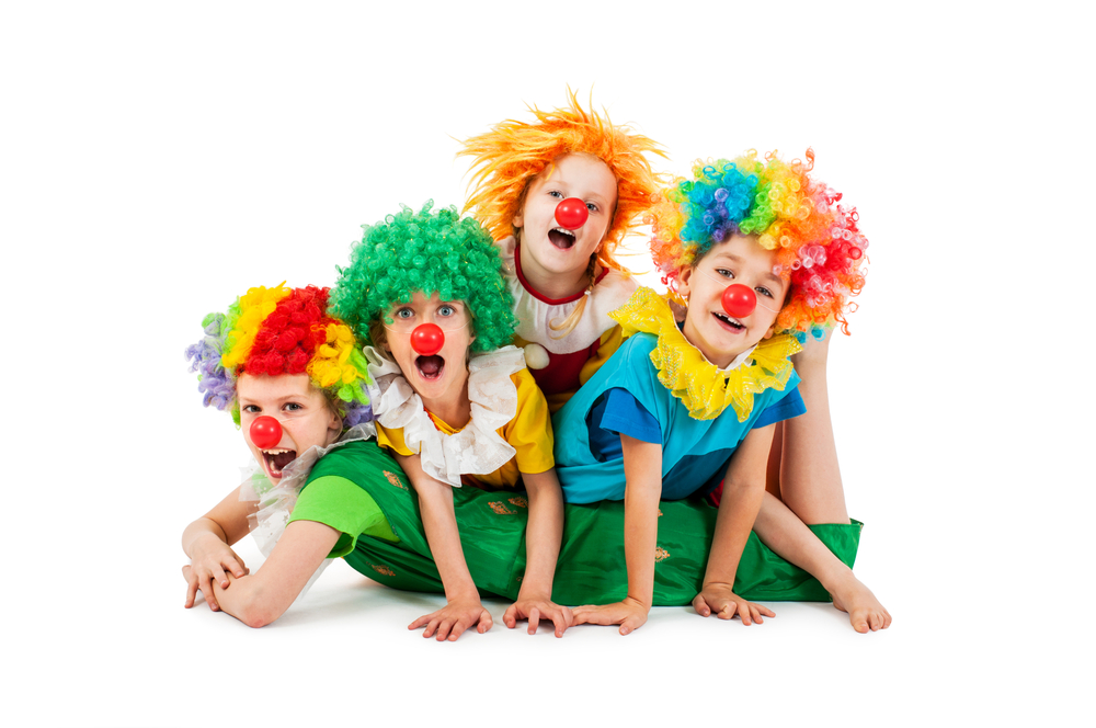 Happy,Children,At,The,Party,In,Clowns,Costume