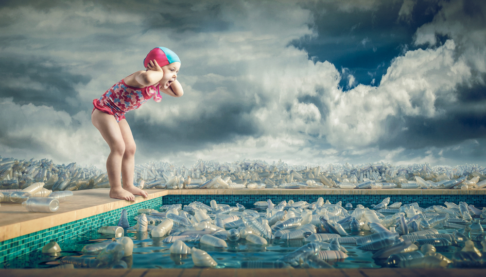 Little,Girl,In,A,Bathing,Suit,Screams,On,The,Edge