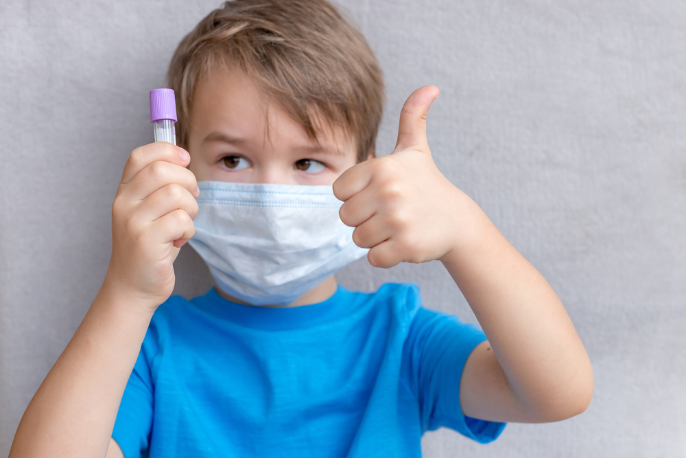 Portrait,Of,Toddler,Kid,Wearing,Medical,Mask.a,Boy,Wearing,Mouth