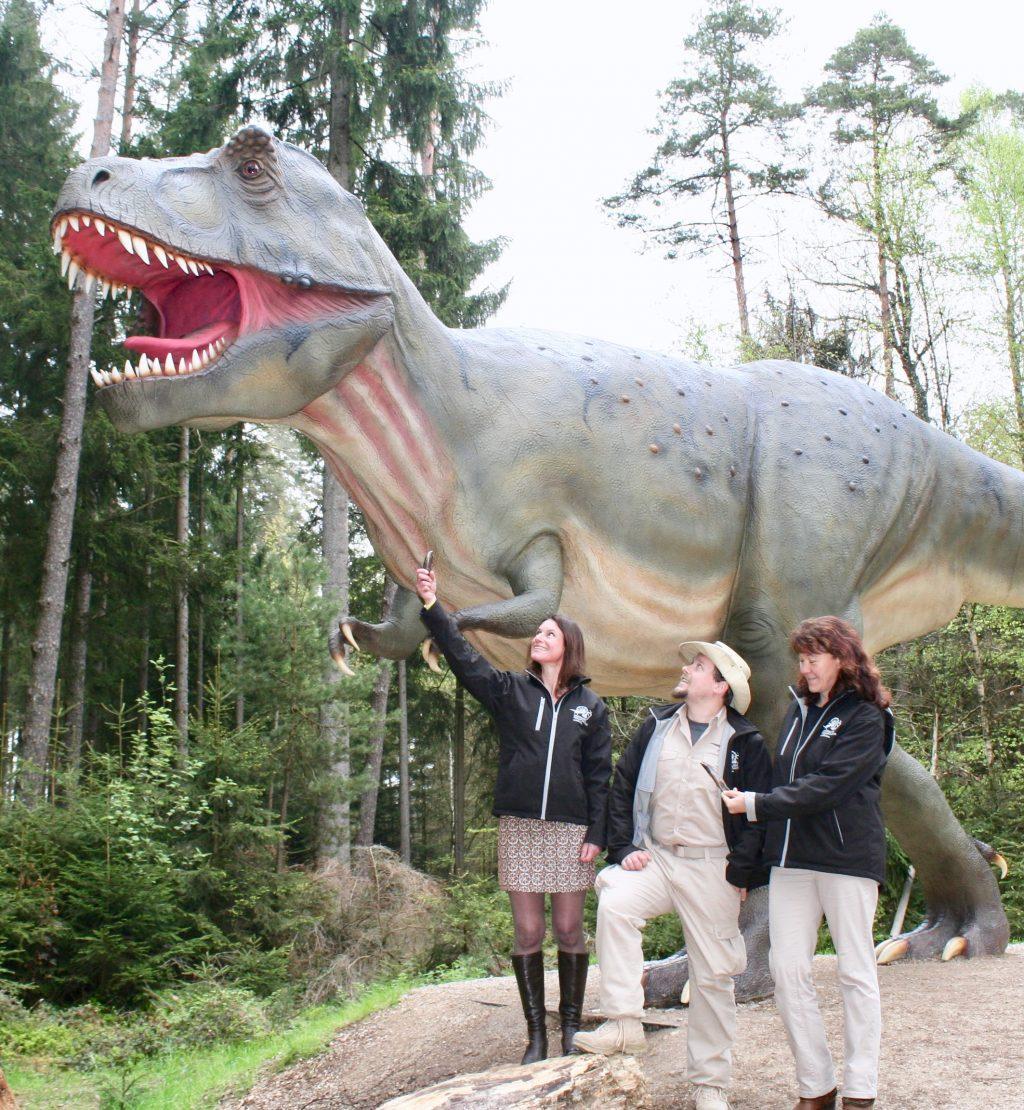 Dino-Park mit T-Rex