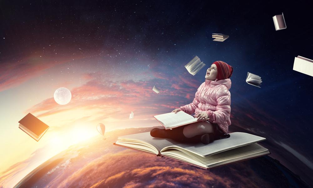 Little,Girl,Reading,A,Book